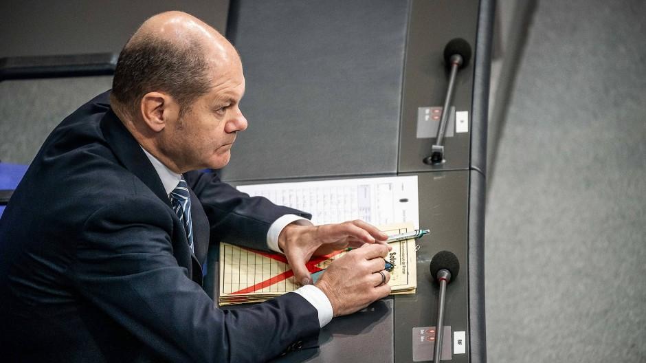 Steht unter Handlungsdruck: Bundesfinanzminster Olaf Scholz (SPD)