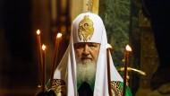 Angeschlagenes Image: Kirill I., Patriarch der der Russisch-Orthodoxen Kirche