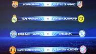 Champions League: Bayern gegen United, Dortmund gegen Real