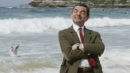 Mr. Bean Schauspieler Rowan Atkinson am Bondi Beach in Sydney im März 2007.