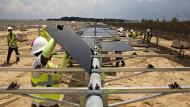 Solarpaneele des amerikanischen Herstellers Silicon Ranch, an dem sich der Shell-Konzern beteiligt hat.