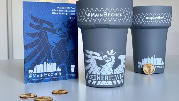 Mit Pfandsystem für Einweg-Kaffeebecher gegen Müll