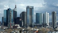 Die Skyline der Bankenstadt Frankfurt am Main.