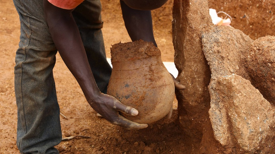 Gehörte vielleicht einem Imker: Keramikgefäß aus der nigerianischen Nok-Kultur