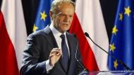 EU-Ratspräsident Donald Tusk hat den Entwurf der neuen Strategie verfasst.