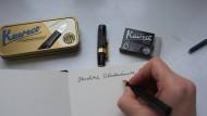 Schönschreiben mit Federhaltern
