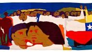 Kann Kunst politisch wirken? Für das Museo de la Solidaridad Salvador Allende lieferte Gracias Barrios 1972 einen acht Meter breiten Flickenteppich.