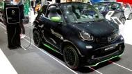 Ein elektrischer Smart auf dem Genfer Auto-Salon.