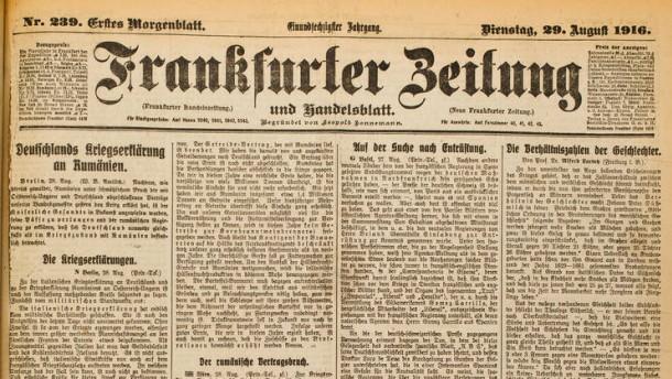 frankfurter zeitung deutschland im krieg mit rum nien und italien der erste. Black Bedroom Furniture Sets. Home Design Ideas