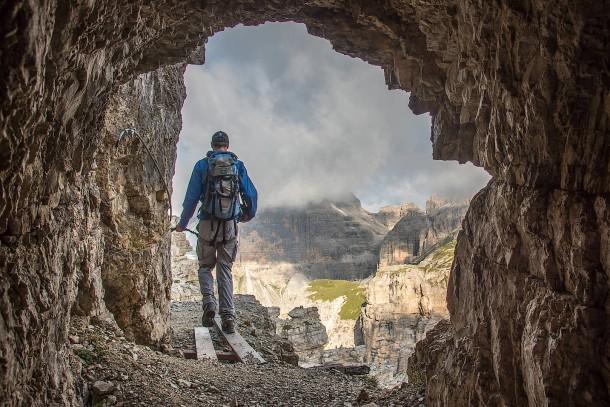 Klettersteig Italien : Klettersteig sentiero contabbandieri sehr ausgesetzter