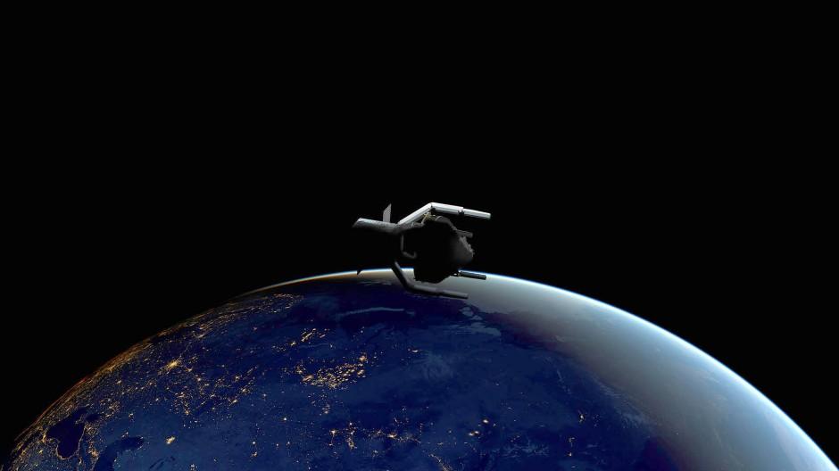 Wachender Blick auf die Erde: Hessen möchte die Kompetenzen im Land um das Darmstädter Raumflugkontrollzentrum bündeln. (Symbolbild)