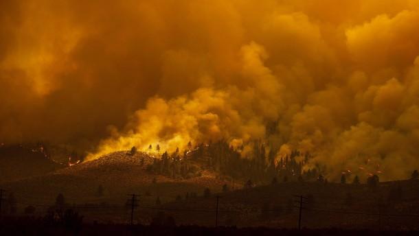 Feuer brechen im Westen der USA aus