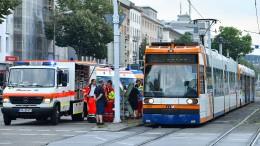 Verletzte bei Straßenbahnunfall in Mannheim