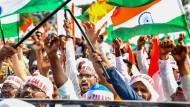 Protestierende in der indischen Hafenstadt Mangaluru