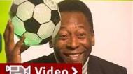 Pelé eröffnet Ausstellung in Berlin