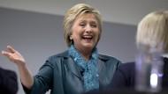 Freut sich: Hillary Clinton