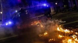 Vierte Nacht in Folge Proteste in Barcelona
