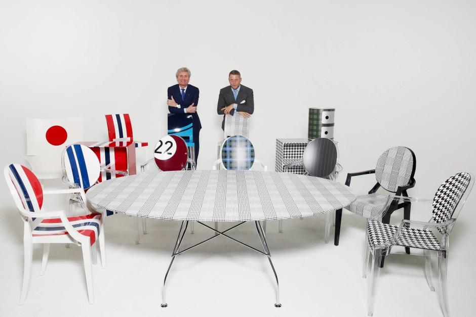 Dass Kartell als kleines Unternehmen mit elf der bekanntesten Designer, darunter Philippe Starck und Patricia Urquiola, zusammenarbeitet, sei nur in Mailand möglich, sagt Kartell-Chef Luti.