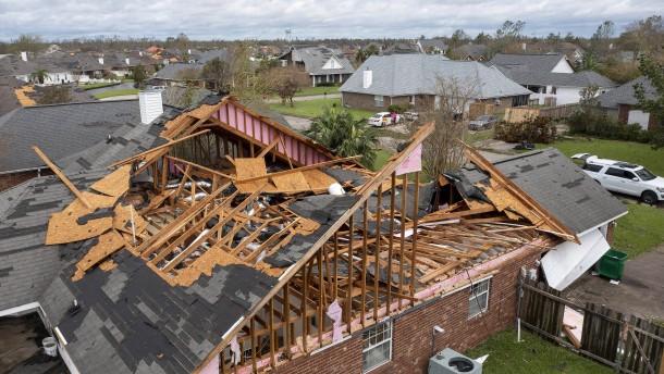 Das Ausmaß der Zerstörung durch Hurrikan Ida