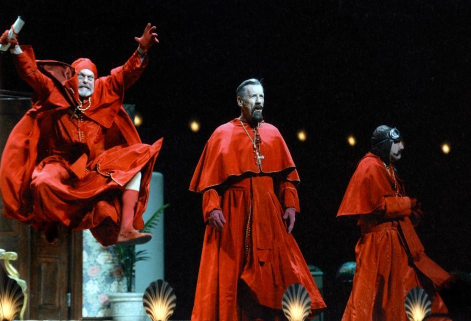 Comeback mit Furor: Mit Monty Python stand Gilliam 2014 wieder auf der Bühne.