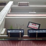 Beharrlich: Auch in Frankfurt, wie hier im Ostend, gibt es immer wieder Vermieter, die Hausbewohner mit verschiedenen Aktionen vertreiben wollen.
