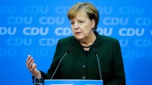 """Merkel will """"ernsthaft, engagiert und redlich"""" mit SPD verhandeln"""