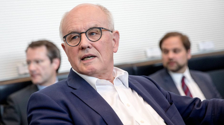 Der Unionsfraktionsvorsitzende Volker Kauder (CDU)