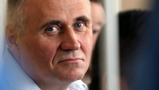 A former opposition presidential candidate Nikolay Statkevich sit