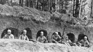 Deutsche Stellungen im Argonner Wald in Frankreich vom 20.Dezember 1914.