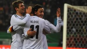 Müller, Klose, Özil