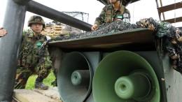 Südkorea stoppt Propaganda an der Grenze