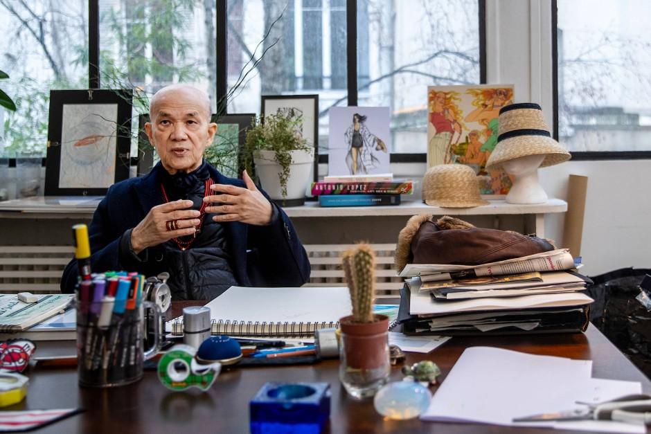 Im Atelier in Paris: Tan Giudicelli, einst Designer für Gunter Sachs.