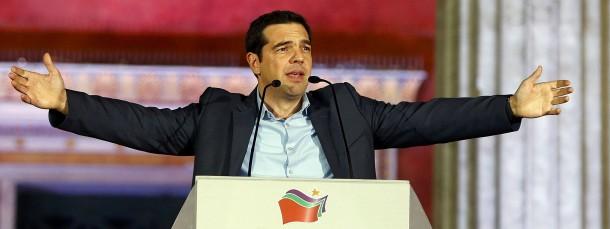 Will Griechenland erlösen: der Vorsitzende des Linksbündnisses Syriza, Alexis Tsipras