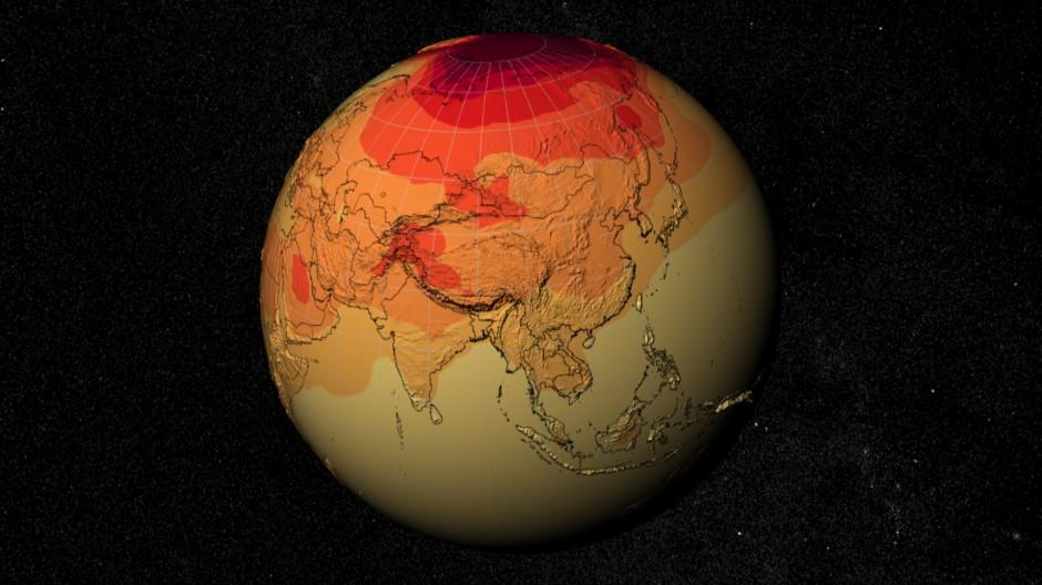 Alles, was viele Bestandteile hat, ruft nach Statistik, wenn es verstanden werden will: Ein NASA-Computermodell des Weltklimas
