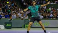 Roger Federer bei seinem Halbfinalsieg über Nick Kyrgios in Miami.