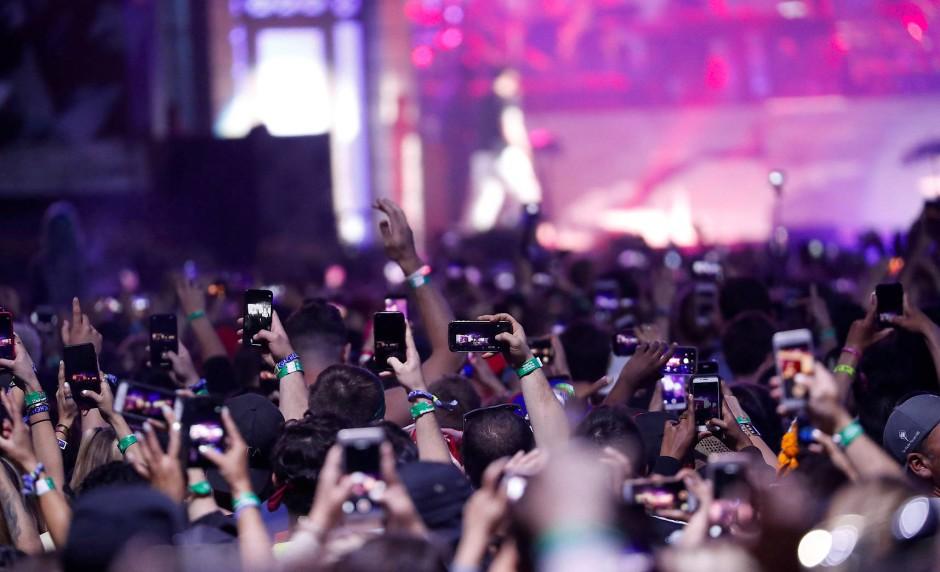 Mindestens genauso wichtig wie der Auftritt von Eminem ist den Fans beim Coachella das Beweisbild.