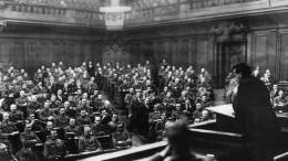 Die erste Sitzung des Berliner Soldatenrats