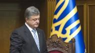 Poroschenko löst ukrainisches Parlament auf