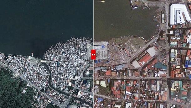 Tacloban vor und nach dem taifun tacloban nach dem taifun