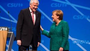 Marmor, Merkel und Seehofer