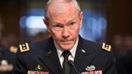 Der Chef der Vereinigten Stabschefs der amerikanischen Streitkräfte Martin Dempsey