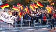 Wer ist welches Volk? Demonstration von Rechtspopulisten in Chemnitz im September.