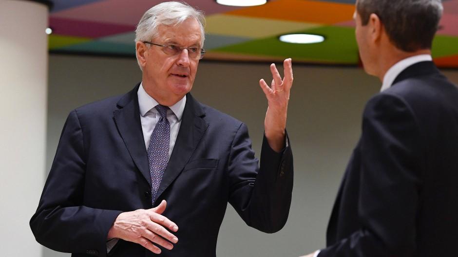 Michael Barnier am Dienstag im Gespräch mit Michael Clauss, dem Ständigen Vertreter Deutschlands bei der EU