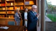 Frank-Walter Steinmeier im neu eröffneten Thomas-Mann-Haus in Pacific Palisades, Kalifornien.