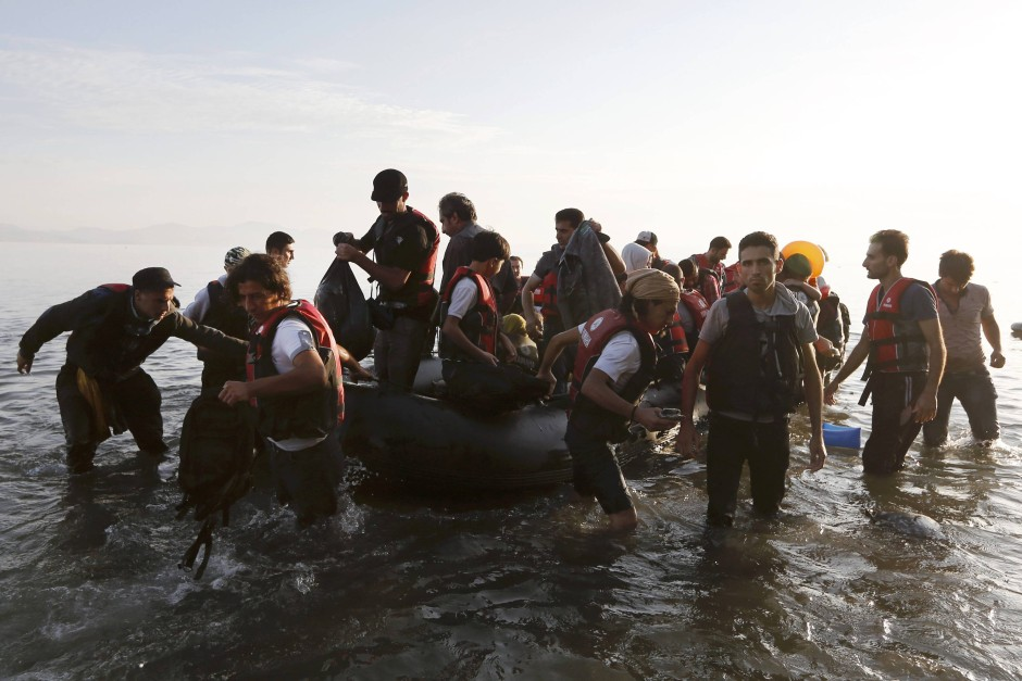 Nur eine Zwischenstation: Syrische Flüchtlinge bei der Ankunft auf Kos