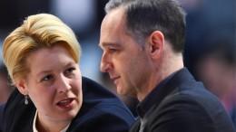 Giffey rückt in SPD-Vorstand auf, Dämpfer für Maas