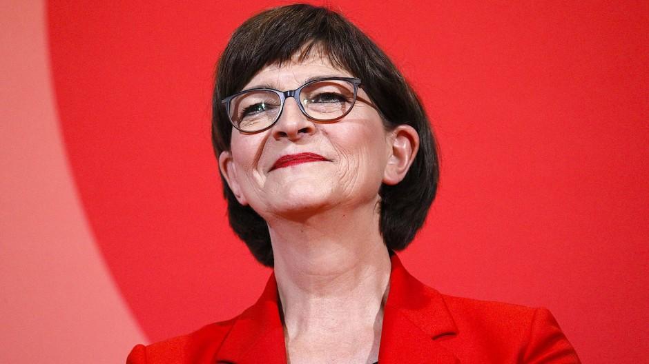 Die designierte SPD-Chefin Saskia Esken