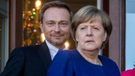 Bundeskanzlerin Angela Merkel und Christian Lindner in Berlin