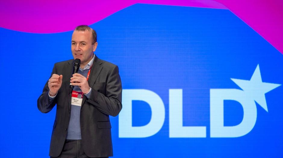 Manfred Weber auf der DLD.