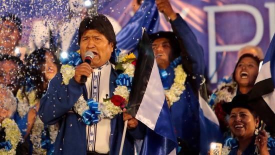 Präsident Morales macht Wahlkampf für vierte Amtszeit